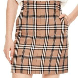 Sandro Sunset Plaid Mini Skirt sz S nwt